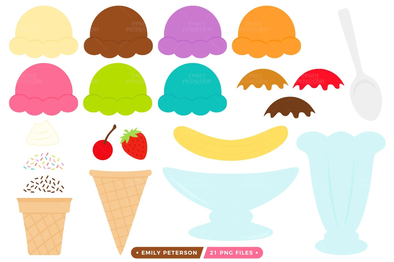 Halloween Sale Ice Cream Sundae Clip Art Ice Cream Kit