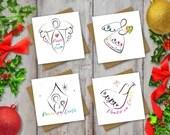 Rainbow Christmas Cards: ...