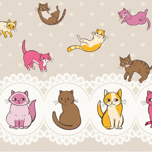 Kitty Fabric, Tossed Kitt...