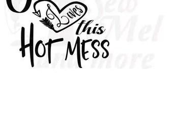 Hot mess svg   Etsy