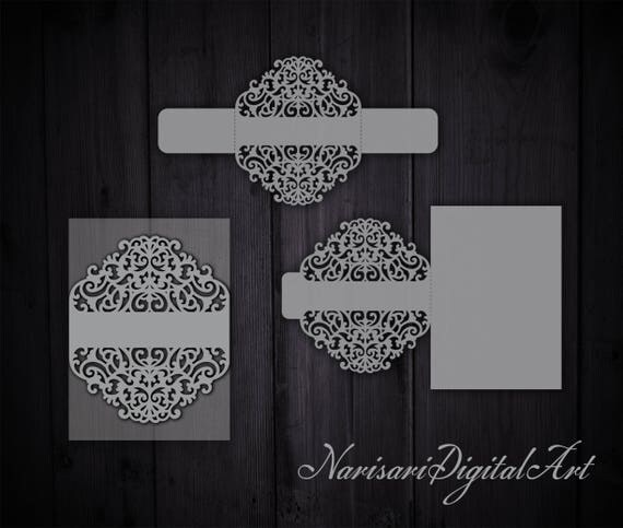 Cricut Wedding Invitation Belly Band Card Template