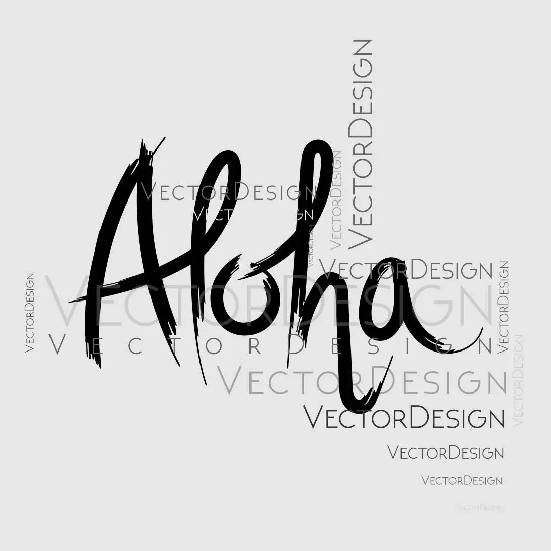 Aloha Sign Graphics Svg Dxf Eps Cdr Ai Vector Art
