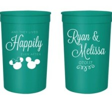 Disney Wedding Cups Mickey Minnie Happily Ever After