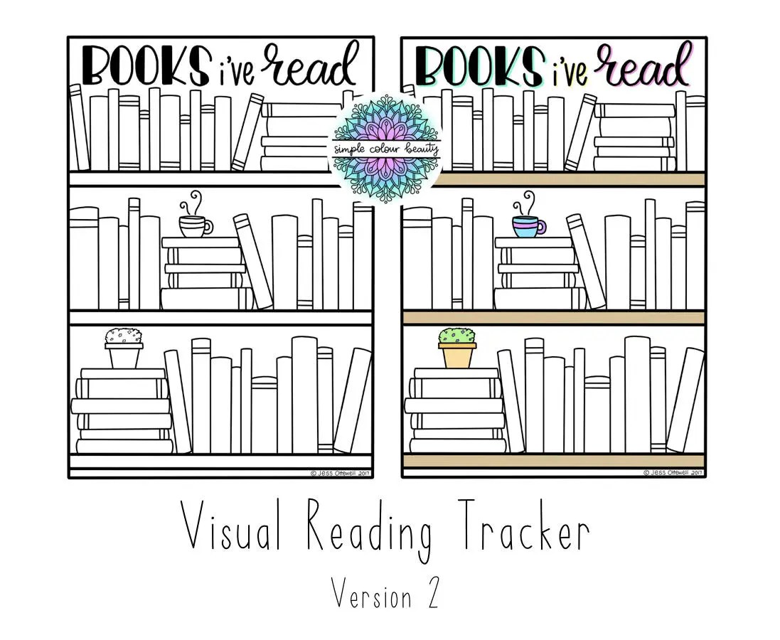 Printable Bookshelf Visual Reading Tracker V 2