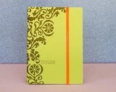 Amelie -- Letterpress Journal on chartreuse cover