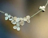 Sterling Hydrangea Cluster Flower Necklace, Made to order