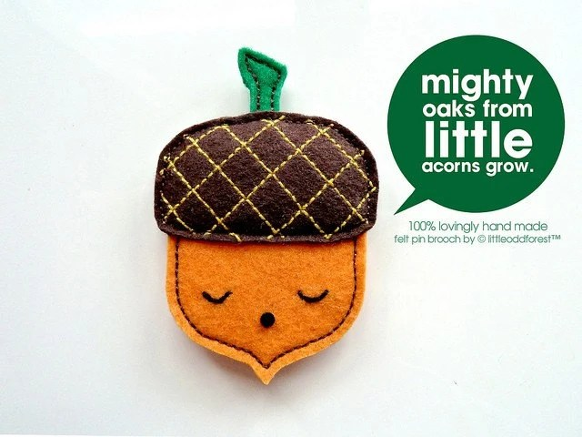 Little Acorn Pin Brooch