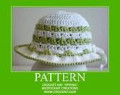 PATTERN Crochet Hat SPRING pdf patterns
