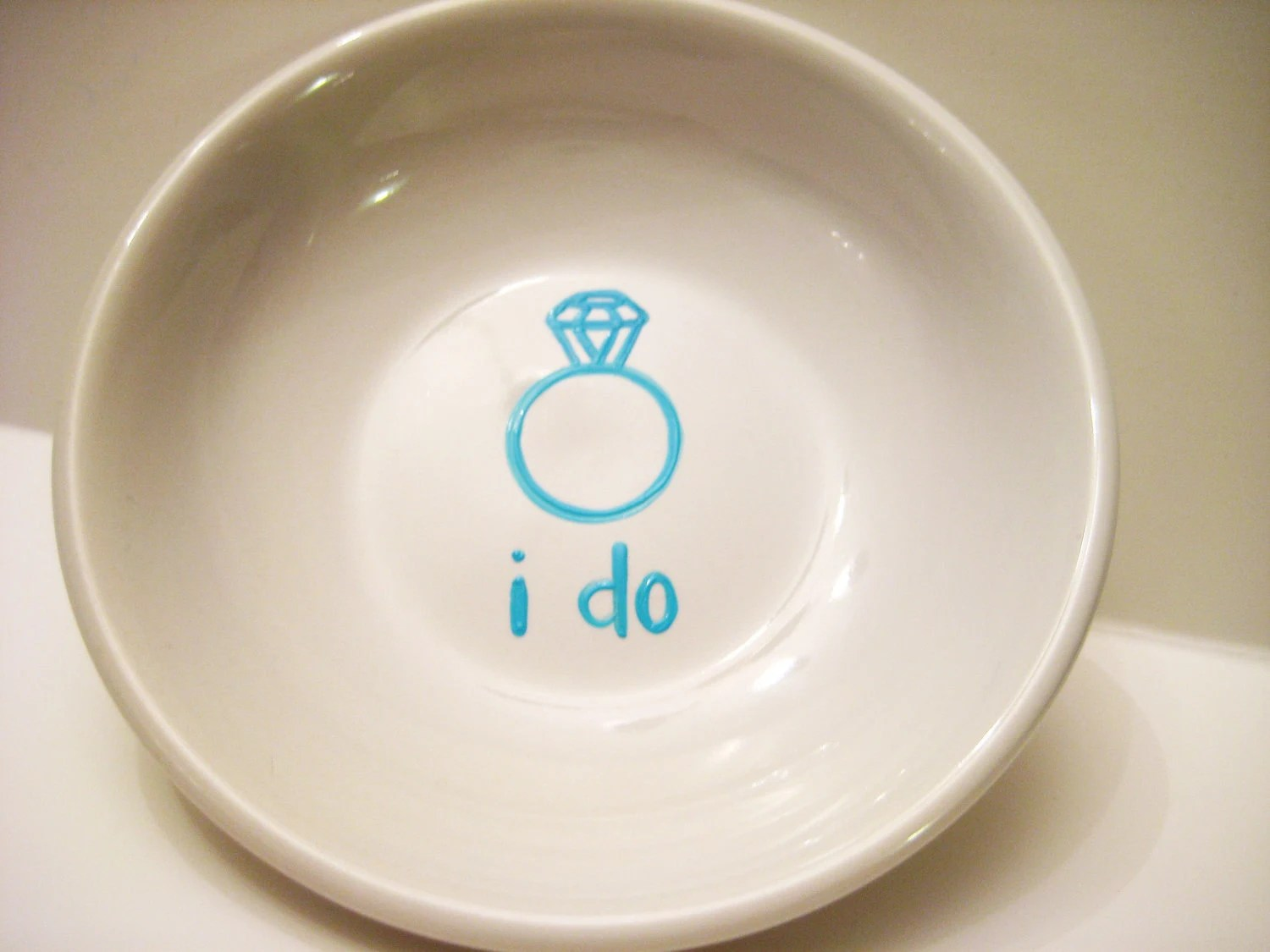 Ring Dish - Something Blue I Do Engagement Gift for the Bride - loveandwhiskers