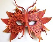 Autumn Forest Mask - Handmade Leather Mask