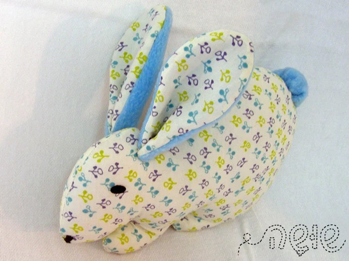 Turquoise Rabbit cotton and fleece