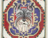 Needlepoint Dog Portrait - Schnauzer
