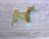 Basenji Dog Embroidered Hand Towel