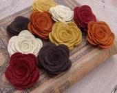 Wool Felt Flowers - Large Posies - Autumn Collection - The Original Wool Felt Posies
