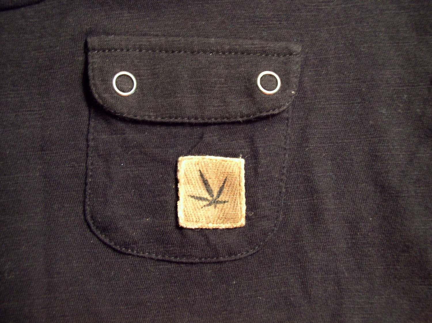 Marijuana leaf fitted shirt with stash pocket - MaxedOutMyKarma
