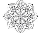 Mandala Art Coloring Page, Printable- Page 3