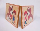 Vintage Raggedy Ann Raggedy Andy Wall Plaques