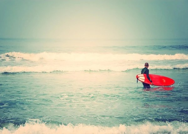 "as seen on Modern Family. surfer photograph. liquid courage"". red surfboard white blue beach California seaside, for him dudes, fathers day - MyanSoffia"