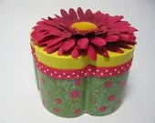 Hand Painted Sparkly Green and Pink Girls Jewelry Box