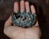 Origami bracelet , handmade paper jewelry ,bangles, black bracelet,pearl