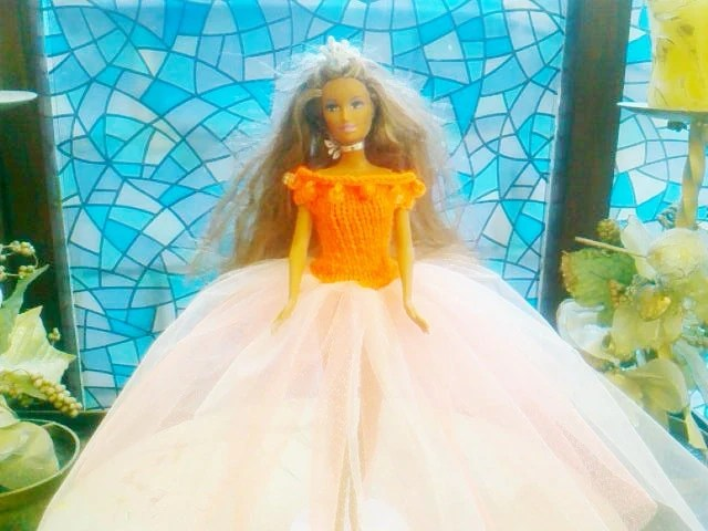 New Handmade  BARBIE DOLL CLOTHES  Ballgown designed and made by nannycheryl  908 x 77