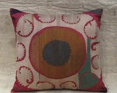 handmade vintage suzani pillow cover - free shipment with UPS -01522-48