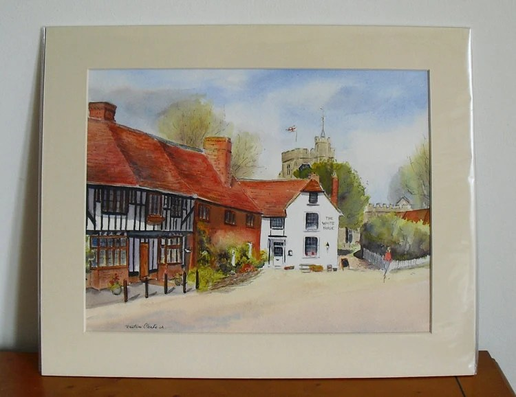 CHILHAM in Kent Original watercolour and ink