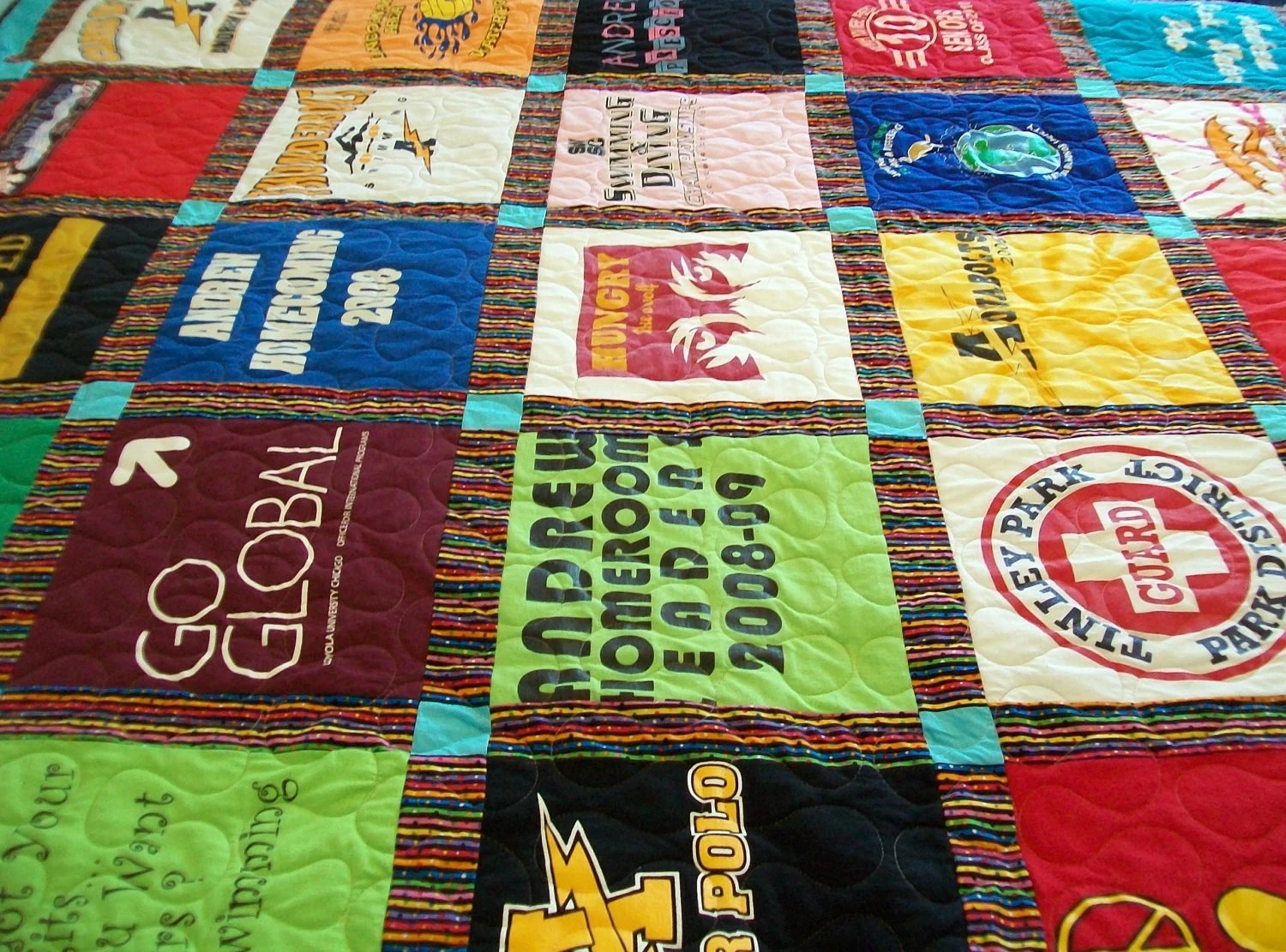 Reserved for Teresajes - Full Size T-Shirt Quilt (Final)