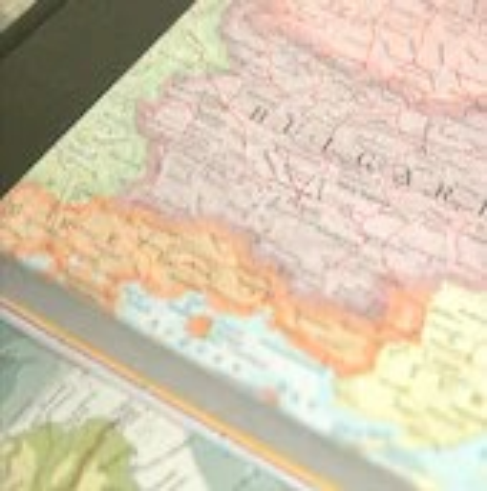Custom travel journal - vintage map-covered handbound book - IndigoInkSpot