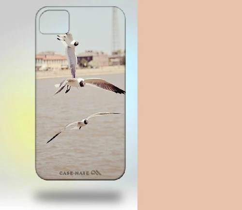 iPhone 4 Case: New Orleans Birds Mississippi River, neutral colors blue - Gallery32Photography