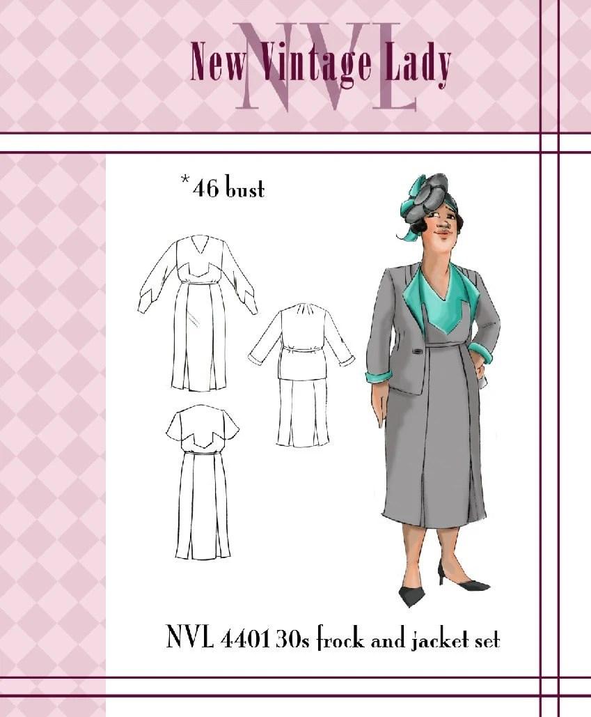 NVL 1930s The Deco Suit 46 bust PLUS SIZE