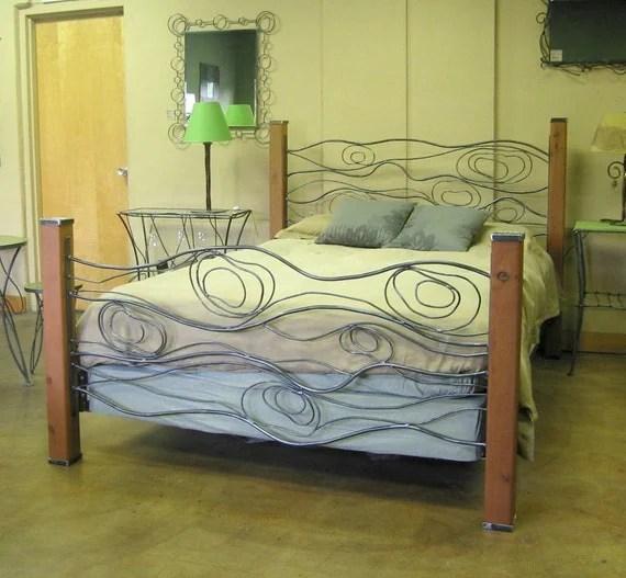 Wood Grain Bed of Steel and Cedar