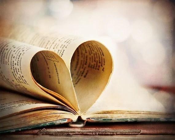 Heart My Book - Fine Art Photograph - 8x10