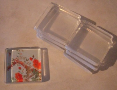 10 1  Inch Glass Square Tiles Make Beautiful Pendants and Magnets