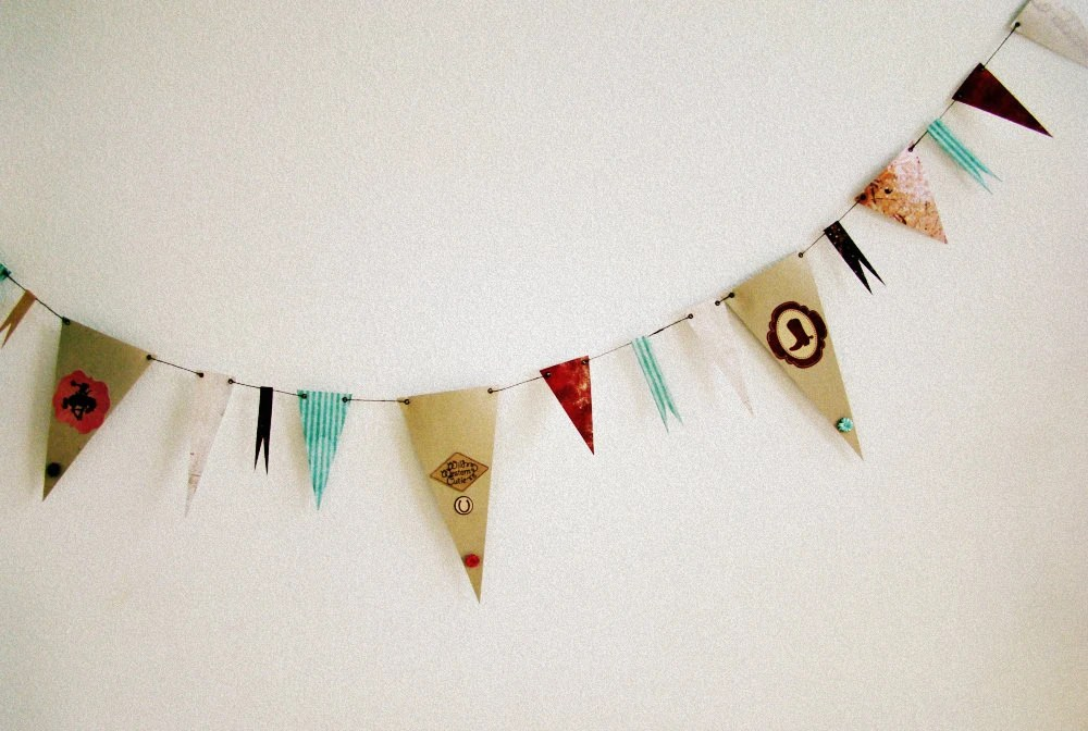 You Go, Cowgirl paper bunting western style one of a kind for tack room, bedroom and barns