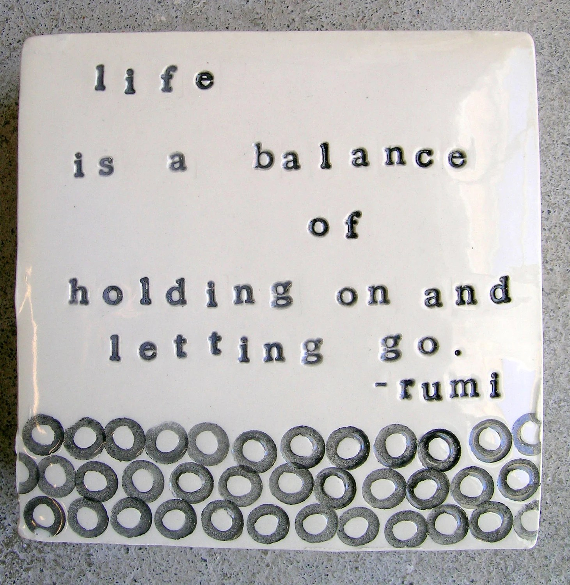 rumi quote wall box.
