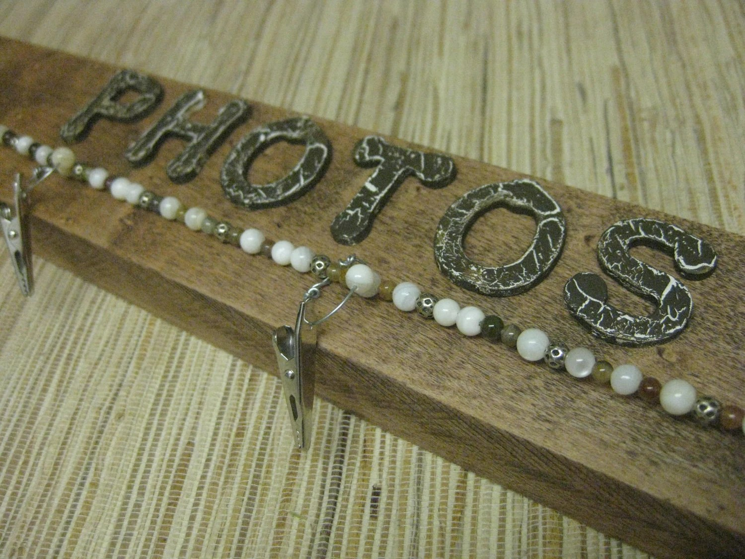 Upcycled PHOTO Wall Hanger - made from reclaimed wood, 5 dollar shipping sale