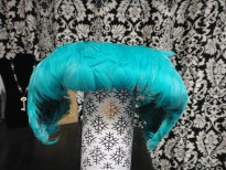 Teal Feather Flapper Styled Hat