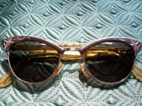 Vintage 12K Gold Filled American Optical Cat Eye 1950's Sunglasses