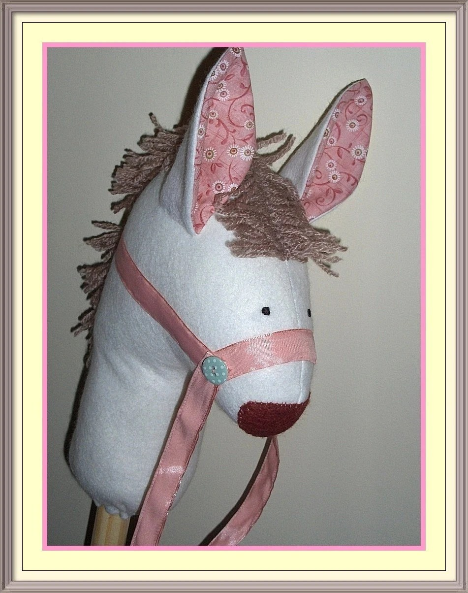 Hobby Horse, Felt, Girls, Fairy, White, Peach, Pink,  UK seller