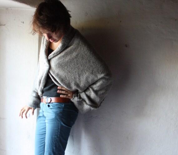Grey Pure wool cardigan
