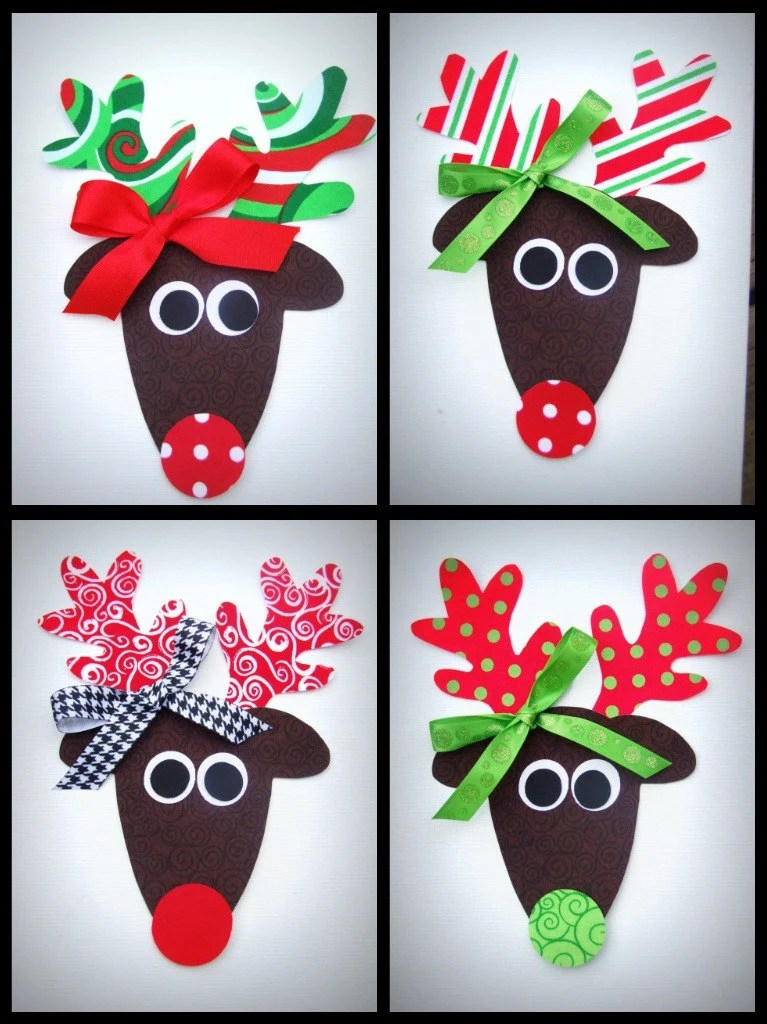Iron On TRENDY GIRL REINDEER Applique -toddler/child size