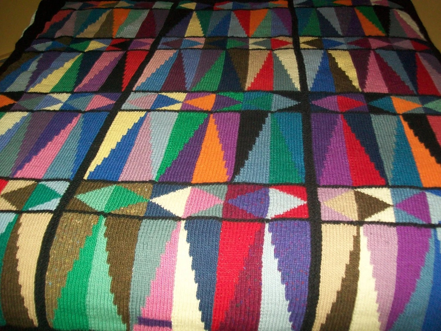 Truly a one of a kind geometric blanket