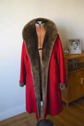 GLAMOROUS Very CHERRY Deco Wool & Fur Coat ( medium)