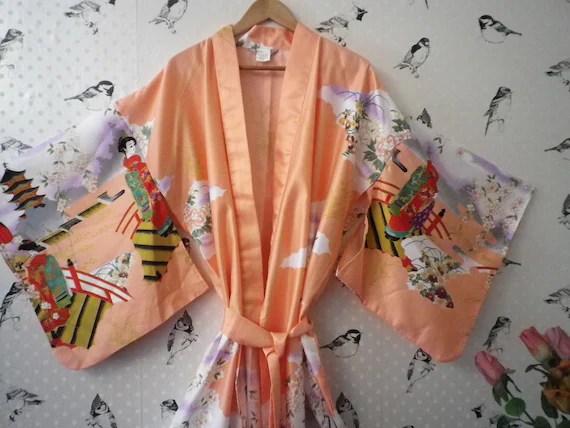 Vintage Long Japanese Kimono