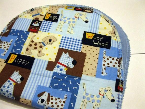Puppy Print Padded Burp Cloth