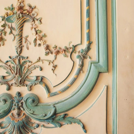 Rococo - Versailles Door, Paris Photograph, Pastel, Shabby Chic, Romantic, Feminine, Baroque, Renaissance, Baby Blue, Spring Home Decor