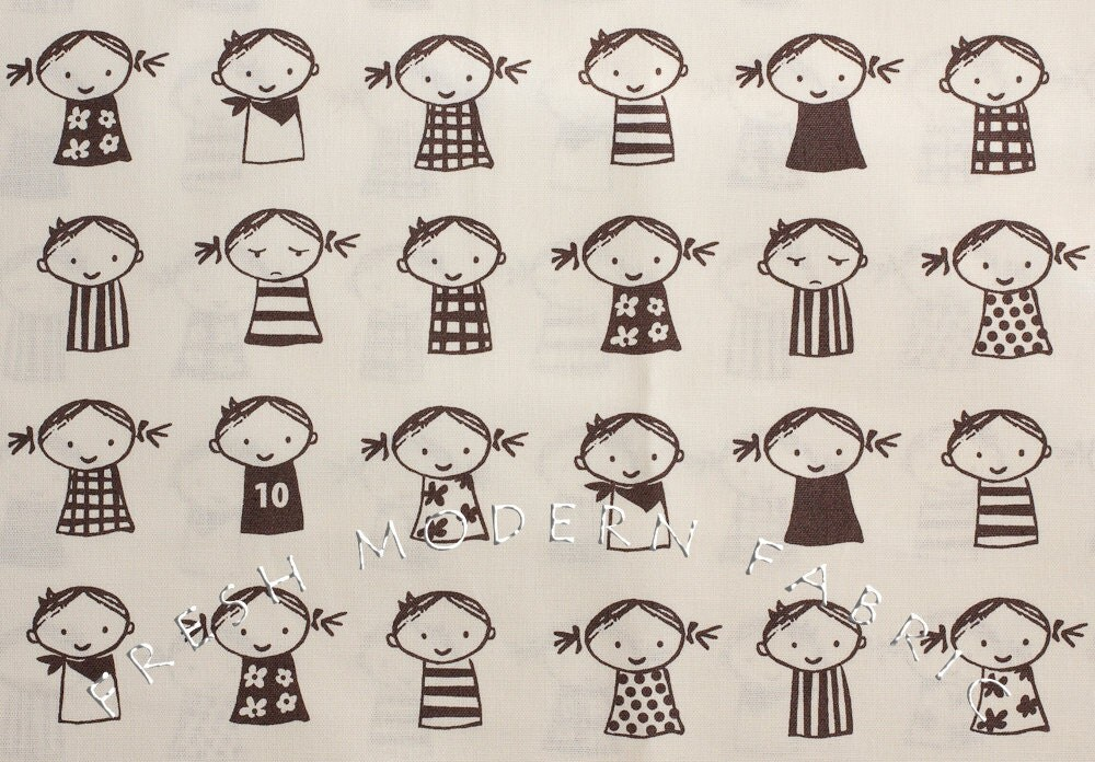 Fat Quarter So Happy Kids by Puti de Pome for Kiyohara Fabrics