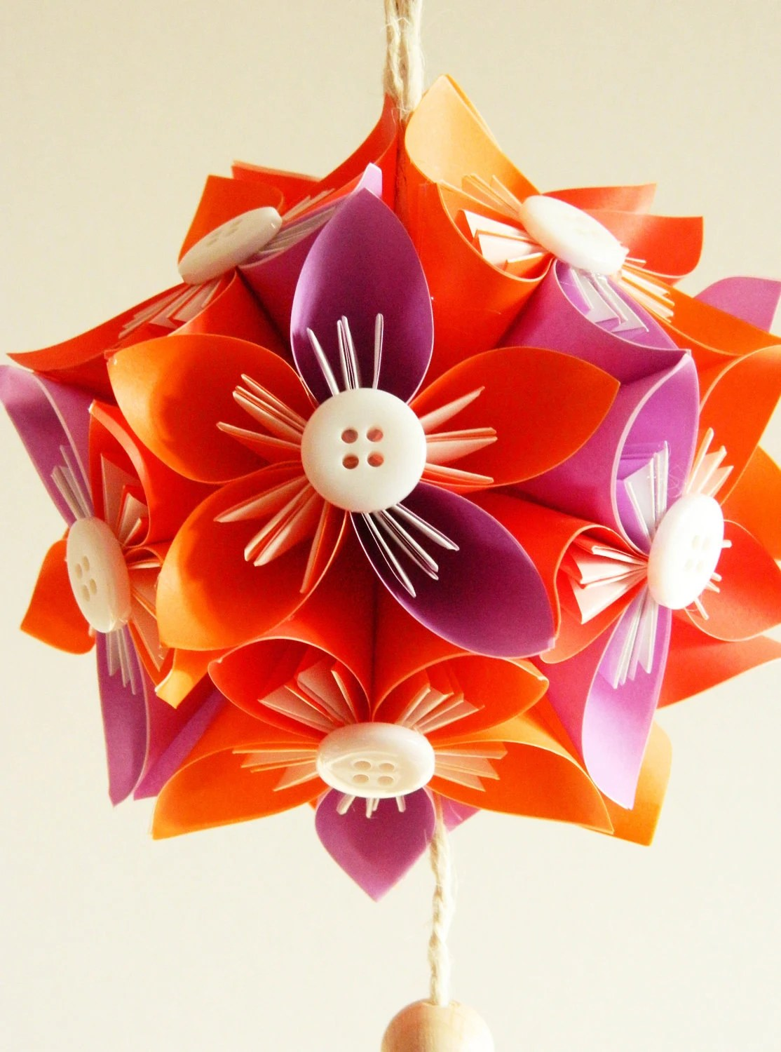 Kusudama little ball ORANGE&VIOLET