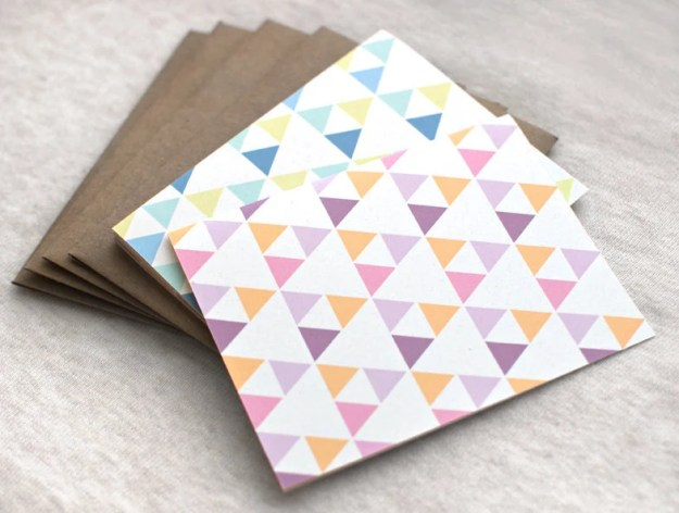 Triangles Cards Set of 4 - Geometric Patterns, Greeting